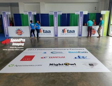 Event Signage & Floor Graphics for TAA Trade Show