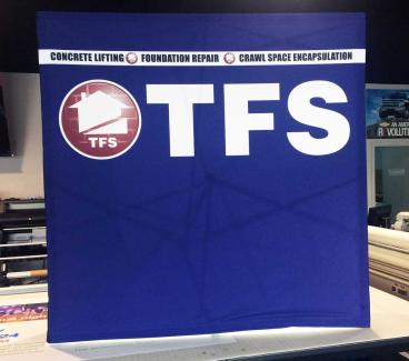 Table Top Trade Show Stretch Fabric Display