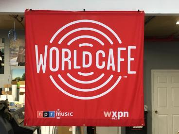 New World Cafe banner for WXPN