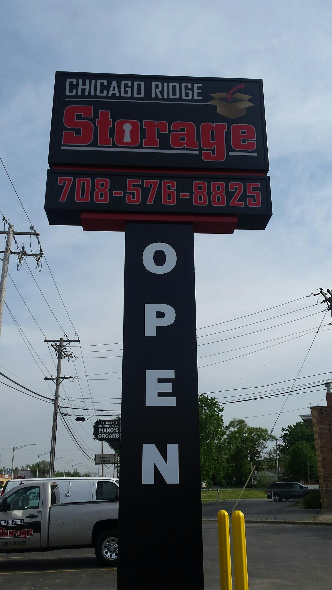 Chicago Ridge Storage is open 7 days a week give us a call!