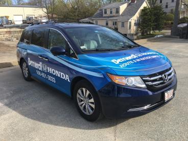 Bernardi Honda of Natick Vehicle Wrap
