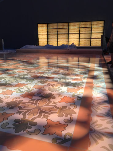 Dance Floor and Acrylic Backdrop Graphics for Wedding, Carmel, CA