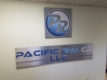 Brushed Aluminum Sign at Pacific Rim in Lynwood, WA