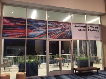 Hewlett Packard Event Window Graphics, Renaissance Hotel Dallas