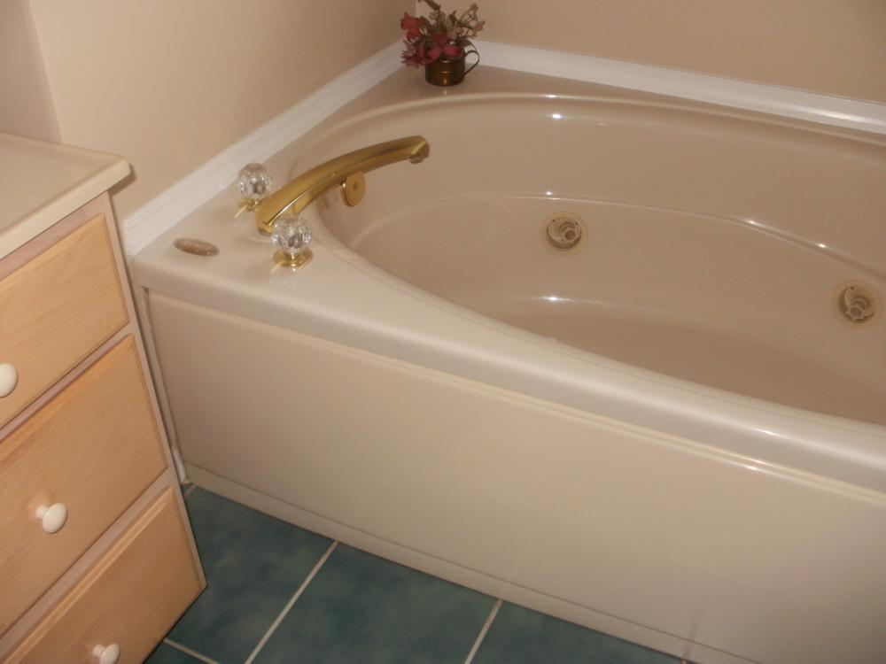 We removed this large whirlpool tub and replaced it with a large shower in Etters, PA.