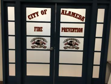 Alameda Fire Department door graphics