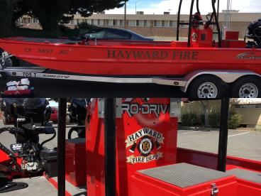 Hayward Fire boat decals