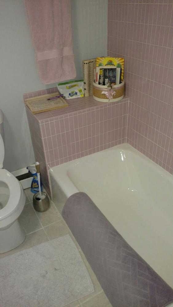 In order to better utilize the space and create more storage, we removed the existing bathtub which was not being used.
