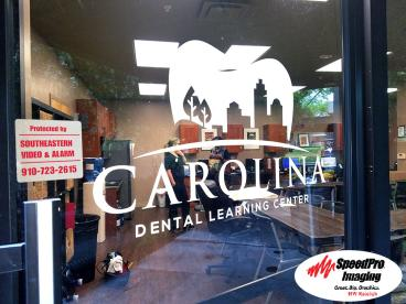 Village Dental Gets New Window Graphics