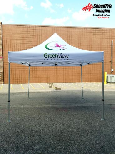 Greenview Partners' New Tent Advertises their Brand at Events