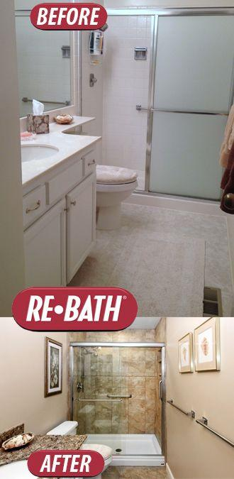 Shower remodel  with Adara Granite wall surround  with a new vanity, flooring, and top.