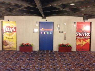 Elevator Graphics, Corporate Branding for a National Sales Meeting
