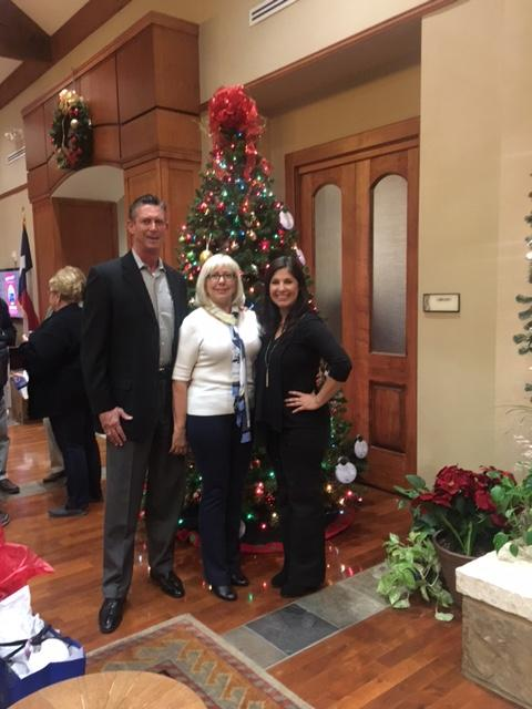 Jim and Melodie with Spa Manager Sebrina Hawkins