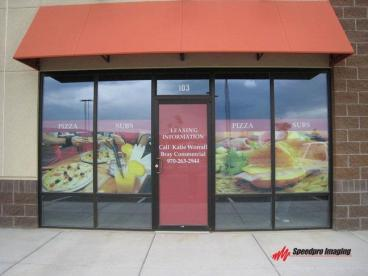 Window Graphics - Pizza Place