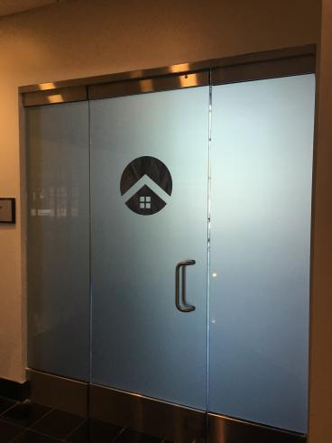 Frosted Door Graphics