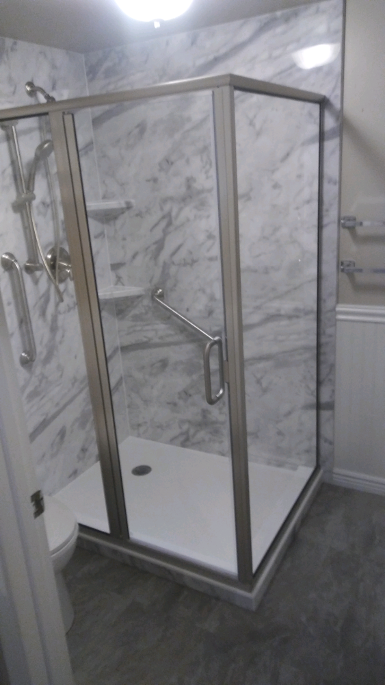 Opened up shower remodel in Sandy, UT