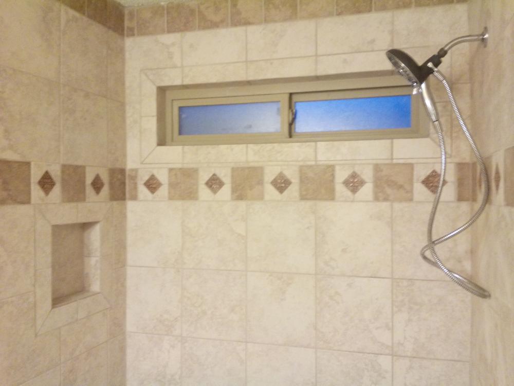(After) Bathroom Remodel, Tile Work, Shower remodel. Bedford, TX