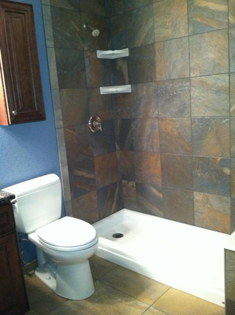 Tub to Shower conversion done in tile