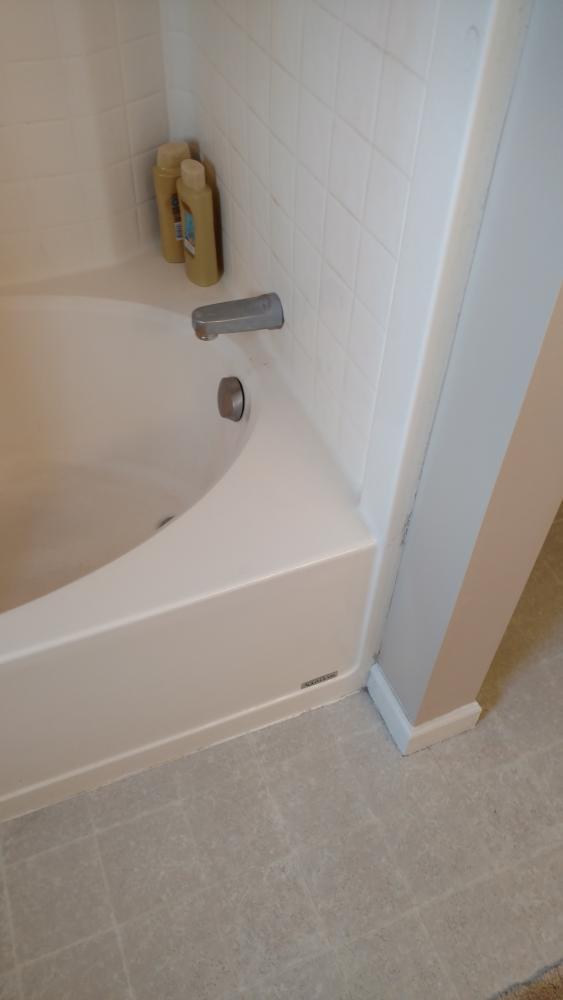 We removed the existing fiberglass bathtub and shower