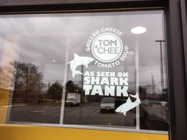 Tom & Chee-Cut Vinyl Window Graphics