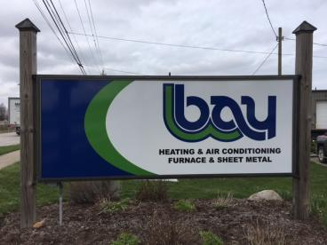 Outdoor Signage - Bay Heating and Air Conditioning