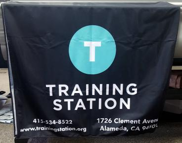 Training Station Alameda table cover