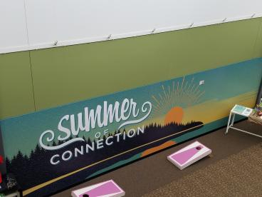 Wall wrap in large church hallway - Redmond, WA