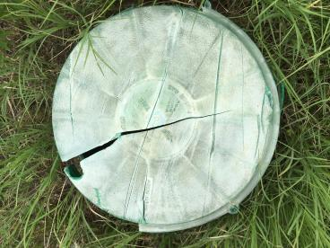 Cracked Septic Top