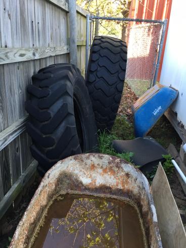 Wheelbarrow and Tires