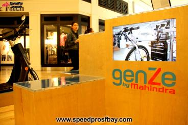 genZe motorbike mall display
