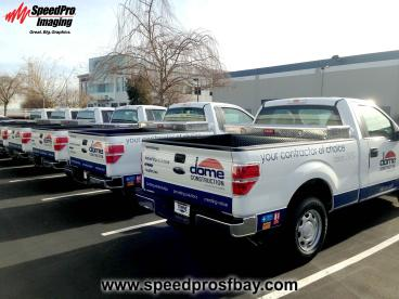 Dome Construction pick up trucks