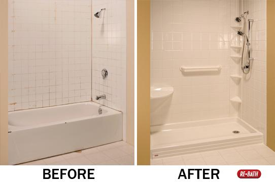 Tub to shower - Before/After