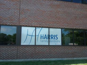 Window perf for Harris Dentistry.