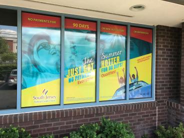 Window Perf I South Jersey Federal Credit Union I SpeedPro Imaging SJ
