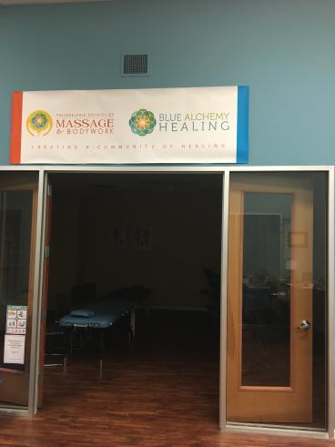 Philadelphia School of Massage Hanging Banner