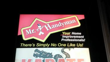 Mr Handyman Back-lit Sign