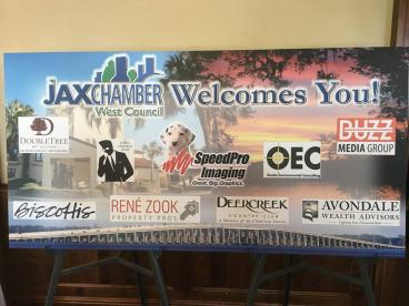 Jacksonville Chamber of Commerce-West Council Sponsor Board