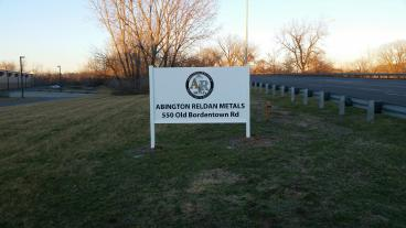 Abington Reldan Metals Outdoor Sign