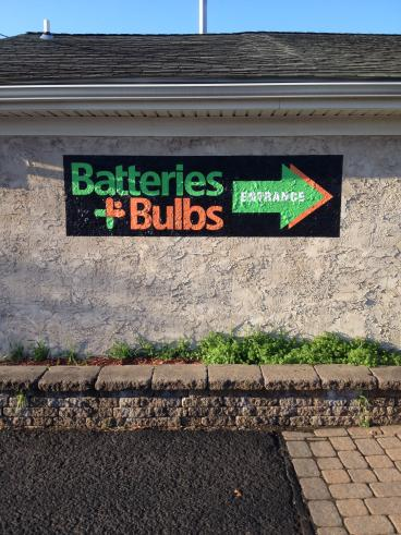 Batteries + Bulbs Outdoor Signage