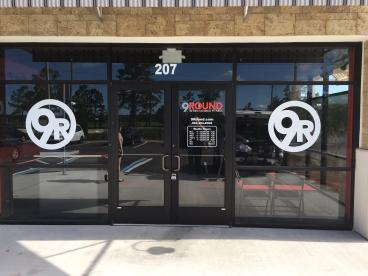 9 Round Saint Augustine Window Graphics