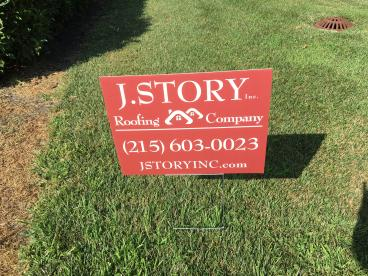 J Story Lawn Sign