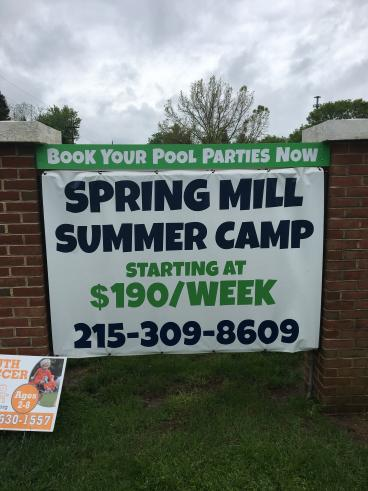 Spring Mill Summer Camp Outdoor Sign