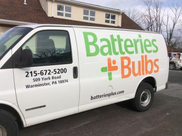 Batteries + Bulbs Vehicle Wrap