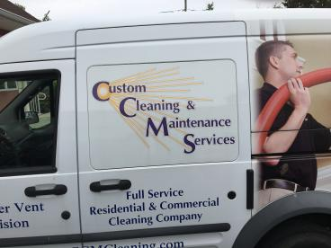 Custom Cleaning Vehicle Wrap
