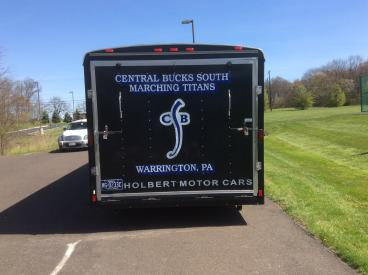 Central Bucks South Marching Band Trailer Wrap