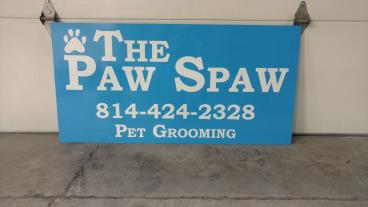 Paw Spaw Double Sided sign
