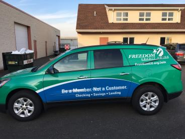 Freedom Credit Union Vehicle Wrap
