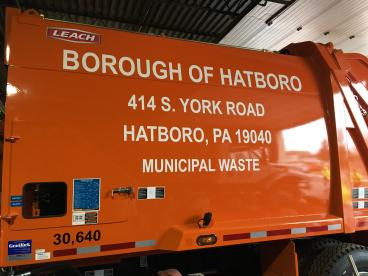 Hatboro Trash Truck