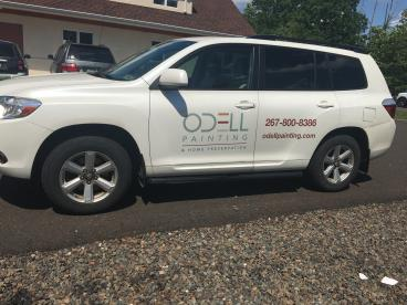 Odell Painting Vehicle Wrap