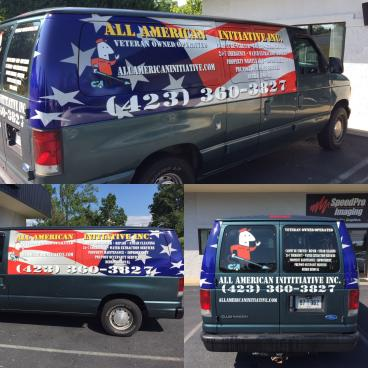 Partial Van Wrap for All American Initiative